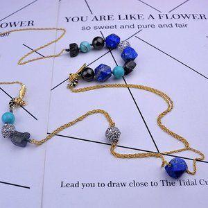 Alexis Bittar Zircon Irregular Turquoise Necklace